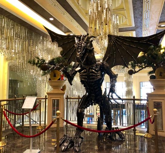 Recycled Metal Sculptures In Las Vegas Neptune Your Dial